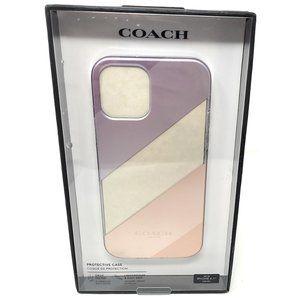 Coach Slim Clear Case for iPhone 12 12 Pro -Stripe